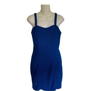 Forever21 Womens Blue Strappy Back Dress Sz L